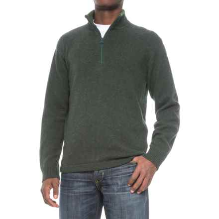 Woolrich Granite Springs II Sweater - Lambswool, Zip Neck (For Men) in Black Forest Pine Heather - Closeouts