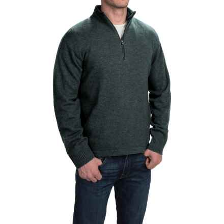 Woolrich Granite Springs II Sweater - Lambswool, Zip Neck (For Men) in Black Plaid Heather - Closeouts