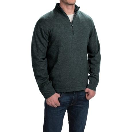 Woolrich Granite Springs II Sweater - Lambswool, Zip Neck (For Men) in Black Plaid Heather
