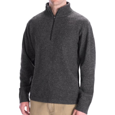 Woolrich Granite Springs Sweater - Zip Neck, Lambswool (For Men) in Charcoal Heather