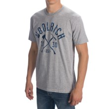 Woolrich Graphic T-Shirt - Short Sleeve (For Men) in Grey Heather - Closeouts