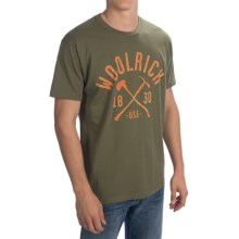 Woolrich Graphic T-Shirt - Short Sleeve (For Men) in Military Green - Closeouts