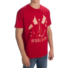 Woolrich Graphic T-Shirt - Short Sleeve (For Men) in Red - Closeouts