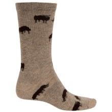 Woolrich Grazing Sheep Socks - Crew (For Men) in Khaki - Closeouts