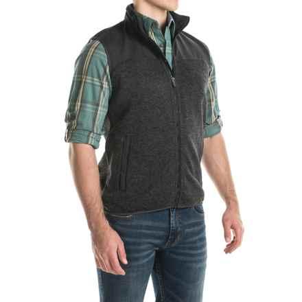 Woolrich Grindstone Fleece Vest - Full Zip (For Men) in Black Heather - Closeouts
