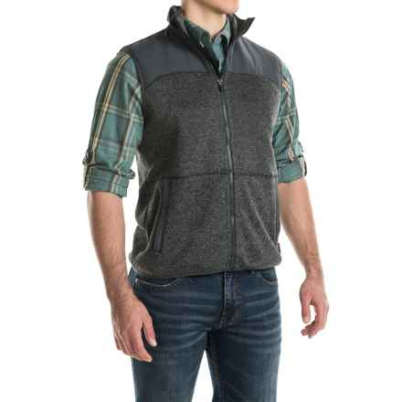 Woolrich Grindstone Fleece Vest - Full Zip (For Men) in Matte Grey Heather - Closeouts