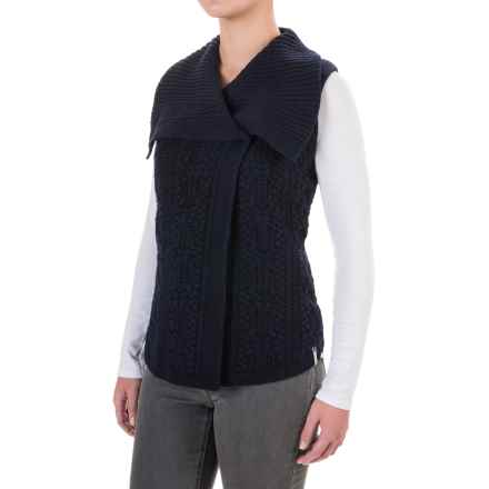 Woolrich Hannah Cable Sweater Vest (For Women) in Deep Indigo - Closeouts
