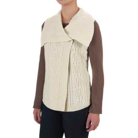 Woolrich Hannah Cable Sweater Vest (For Women) in Wool Cream - Closeouts