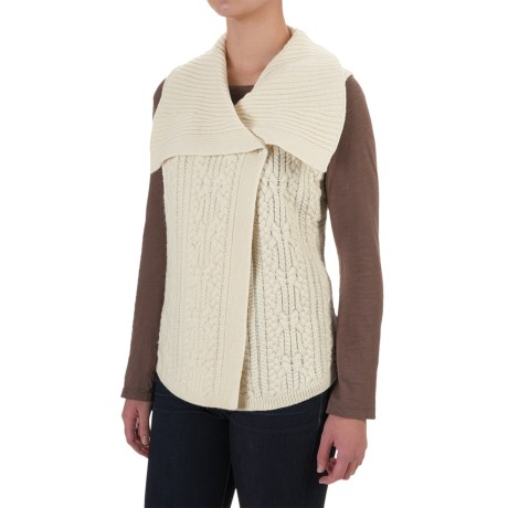 Woolrich Hannah Cable Sweater Vest (For Women) in Wool Cream