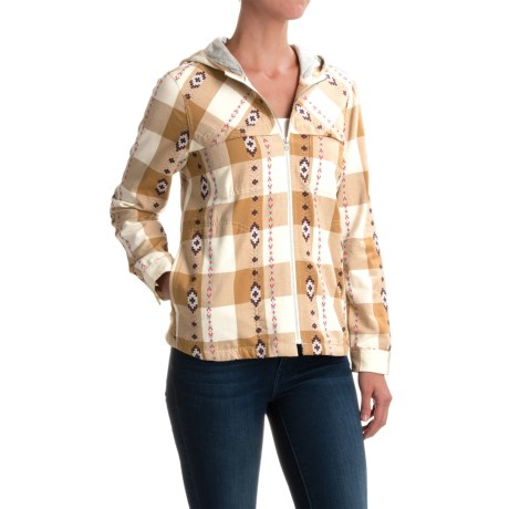 Woolrich Hartington Shirt - Zip Front, Long Sleeve (For Women) in Camel
