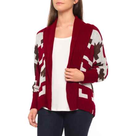 Woolrich Harvest Cardigan Sweater (For Women) in Wine Multi - Closeouts