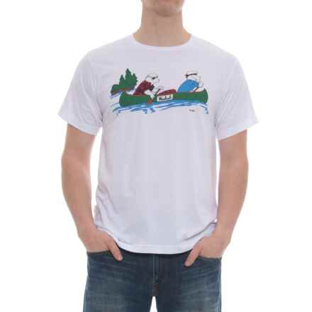 Woolrich Hayes Run Graphic T-Shirt - Short Sleeve (For Men) in Canoeing Sheep - Overstock