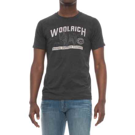 Woolrich Hayes Run Graphic T-Shirt - Short Sleeve (For Men) in Woolrich Bison - Overstock