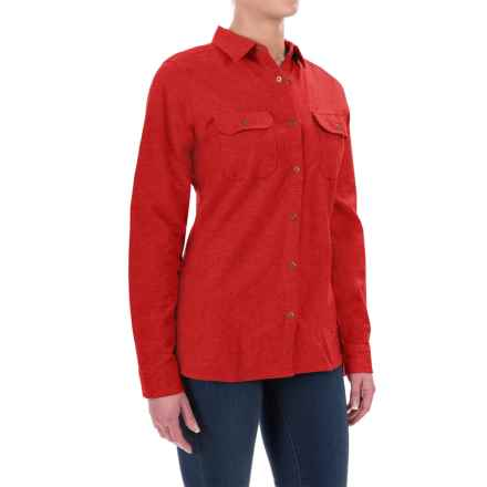 Woolrich Heather Chamois Shirt - Snap Front, Long Sleeve (For Women) in Old Red Heather - Closeouts