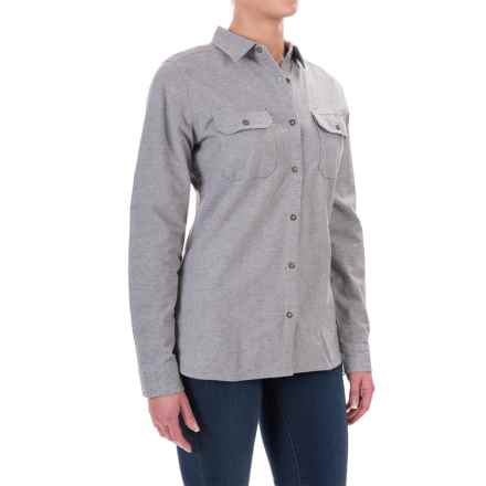 Woolrich Heather Chamois Shirt - Snap Front, Long Sleeve (For Women) in Twilight Heather - Closeouts