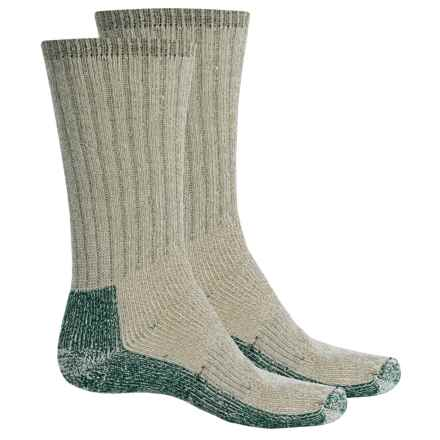 Woolrich Heavyweight Expedition Socks - 2-Pack, Merino Wool, Mid-Calf (For Men) in Tan - Closeouts