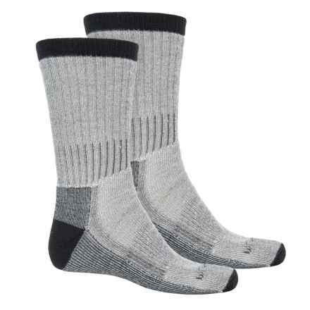 Woolrich Heavyweight Hiker Socks - 2-Pack, Crew (For Men) in Natural/Black - Overstock