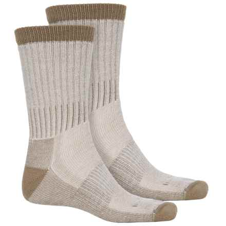 Woolrich Heavyweight Hiker Socks - 2-Pack, Crew (For Men) in Natural/Camel - Overstock