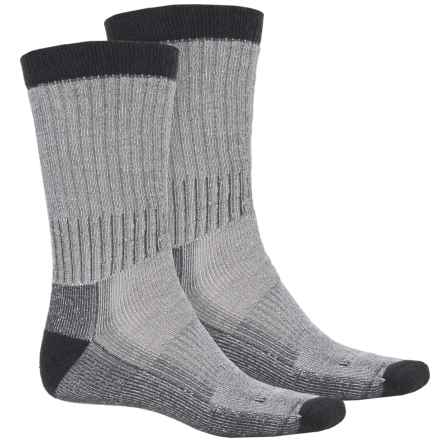 Woolrich Heavyweight Hiker Socks - 2-Pack, Crew (For Men) in Natural/Carbon - Overstock