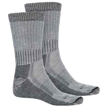 Woolrich Heavyweight Hiker Socks - 2-Pack, Crew (For Men) in Natural/Champagne - Overstock