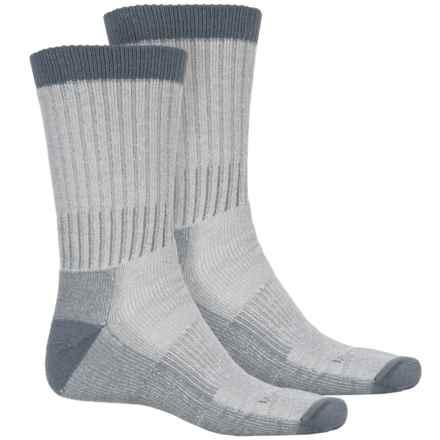 Woolrich Heavyweight Hiker Socks - 2-Pack, Crew (For Men) in Natural/Harbor - Overstock