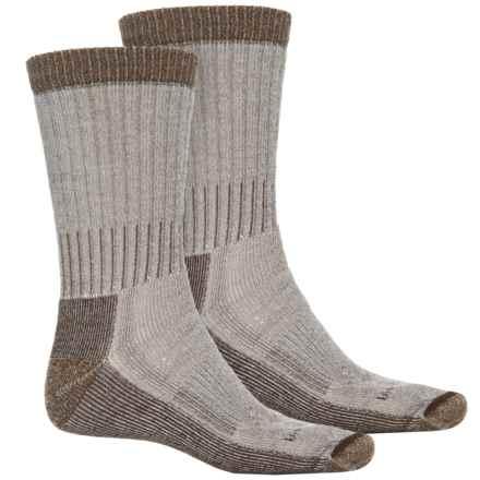 Woolrich Heavyweight Hiker Socks - 2-Pack, Crew (For Men) in Natural/Khaki - Overstock