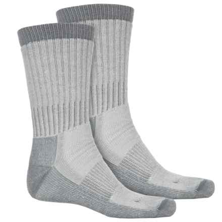 Woolrich Heavyweight Hiker Socks - 2-Pack, Crew (For Men) in Natural/Lead - Overstock