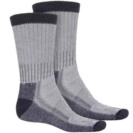 Woolrich Heavyweight Hiker Socks - 2-Pack, Crew (For Men) in Natural/Navy - Overstock