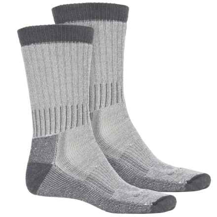Woolrich Heavyweight Hiker Socks - 2-Pack, Crew (For Men) in Natural/Steel - Overstock