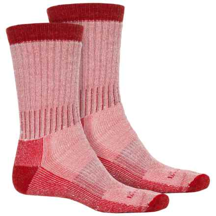 Woolrich Heavyweight Hiker Socks - 2-Pack, Crew (For Men) in Naturalbrick Red - Overstock