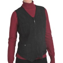 Woolrich heirloom washed wool vest for women in black closeouts