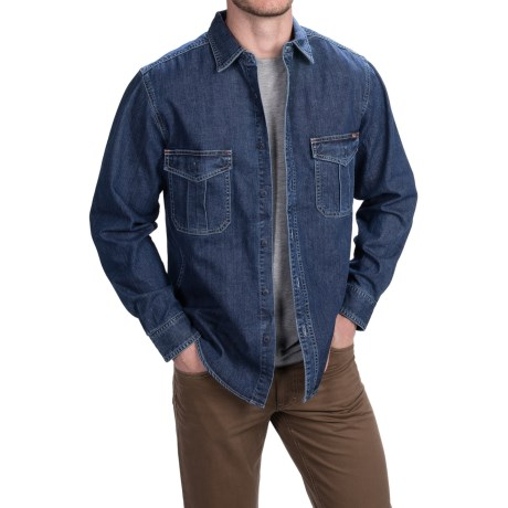 Woolrich Hemlock Denim Shirt Long Sleeve (For Men)