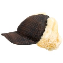 Woolrich Heritage Cap in Brown/Black - Closeouts