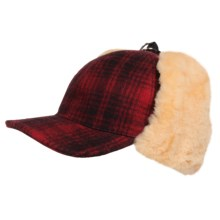 Woolrich Heritage Cap in Red/Black - Closeouts