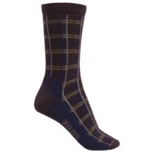 Woolrich Heritage Collection Buffalo Check Socks - Merino Wool, Crew (For Women) in Java - Closeouts