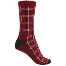 Woolrich Heritage Collection Buffalo Check Socks - Merino Wool, Crew (For Women) in Poppy - Closeouts