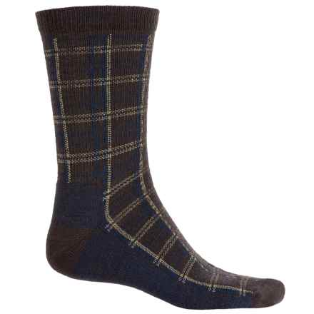 Woolrich Heritage Collection Buffalo Check Socks - Merino Wool, Mid Calf (For Women) in Java - Closeouts