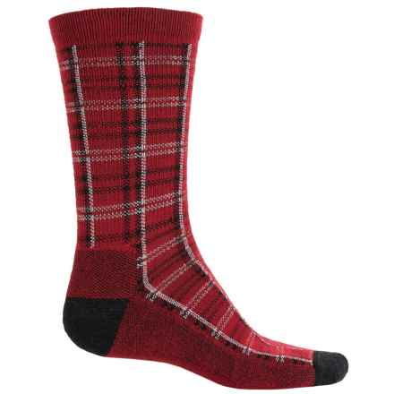 Woolrich Heritage Collection Buffalo Check Socks - Merino Wool, Mid Calf (For Women) in Poppy - Closeouts