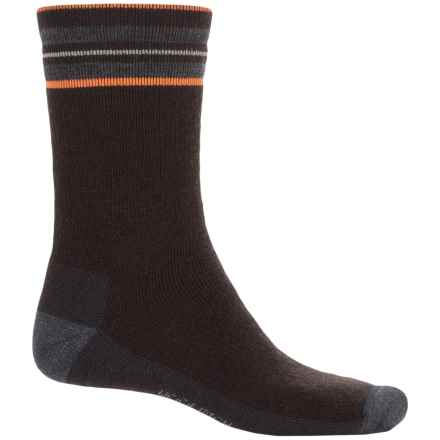 Woolrich Heritage Collection Tipped Stripe Socks - Merino Wool, Crew (For Men) in Java - Closeouts