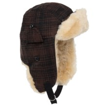 Woolrich Heritage Plaid Aviator Hat (For Men) in Brown/Black - Closeouts