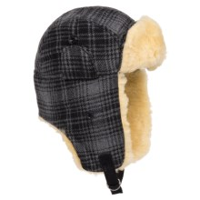 Woolrich Heritage Plaid Aviator Hat (For Men) in Grey/Black - Closeouts