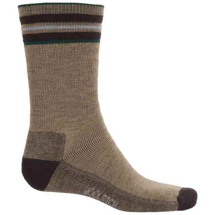 Woolrich Heritage Tipped Stripe Socks - Merino Wool, Crew (For Men and Women) in Lead Grey - Closeouts