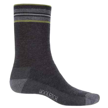 Woolrich Heritage Tipped Stripe Socks - Merino Wool, Crew (For Men) in Jet - Closeouts