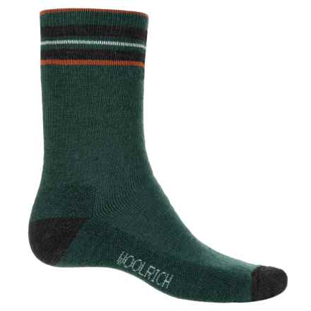Woolrich Heritage Tipped Stripe Socks - Merino Wool, Crew (For Men) in Pine Grove - Closeouts