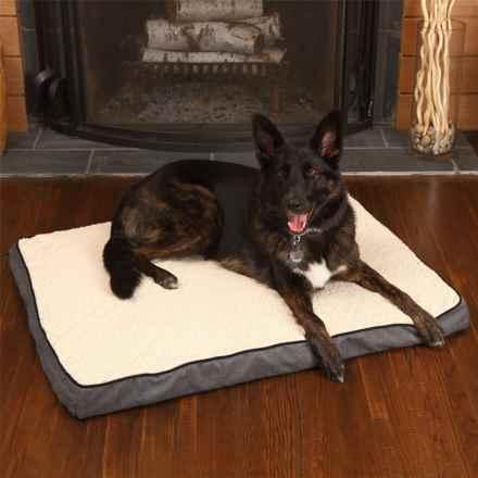 "Woolrich Herringbone Orthopedic Gusseted Dog Bed - 40x30"" in Black/Dark Grey - Closeouts"