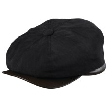 Woolrich Herringbone Twill Newsboy Cap - Ear Flaps (For Men) in Black - Closeouts