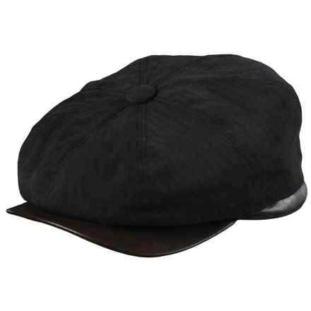 Woolrich Herringbone Twill Newsboy Cap - Ear Flaps (For Men) in Black - Closeouts