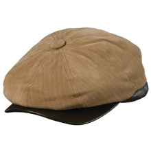 Woolrich Herringbone Twill Newsboy Cap - Ear Flaps (For Men) in Camel - Closeouts