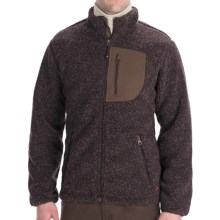 Woolrich High Point Jacket - Berber Fleece (For Men) in Bark Heather - Closeouts