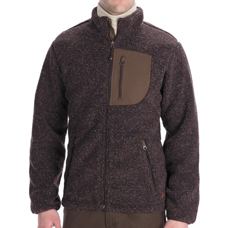 Woolrich High Point Jacket - Berber Fleece (For Men) in Bark Heather